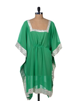 Elegant Green Kaftan Top - Tops And Tunics