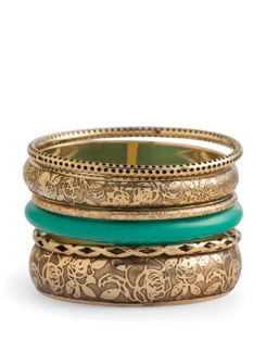 Elegant Gold Bangles - Set Of 6 - THE PARI