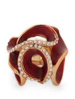 Designer Studded Rose Ring - THE PARI
