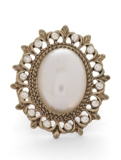 Traditional White & Gold Ring - THE PARI