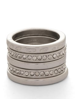 Silver Rings - Set of 5 - THE PARI