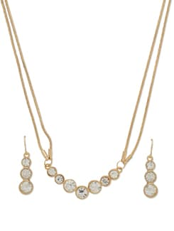 Dazzling Gold Necklace Set - THE PARI