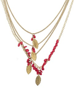 Multilayered Gold Beaded Necklace - THE PARI