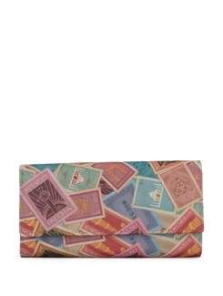 Postal Stamps Print Clutch - Mad(e) In India