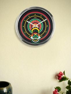 Kathakali Print Wall Clock - Mad(e) In India