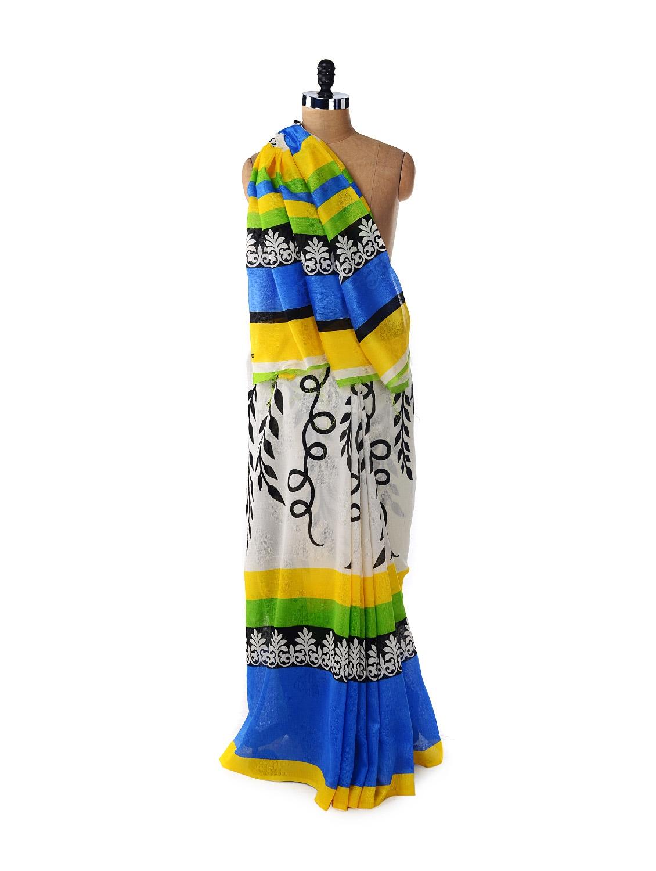 Designer Multicoloured Printed Saree - ROOP KASHISH