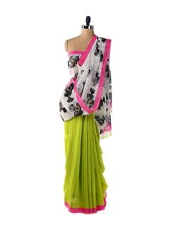 Quirky Fan Print Saree - ROOP KASHISH