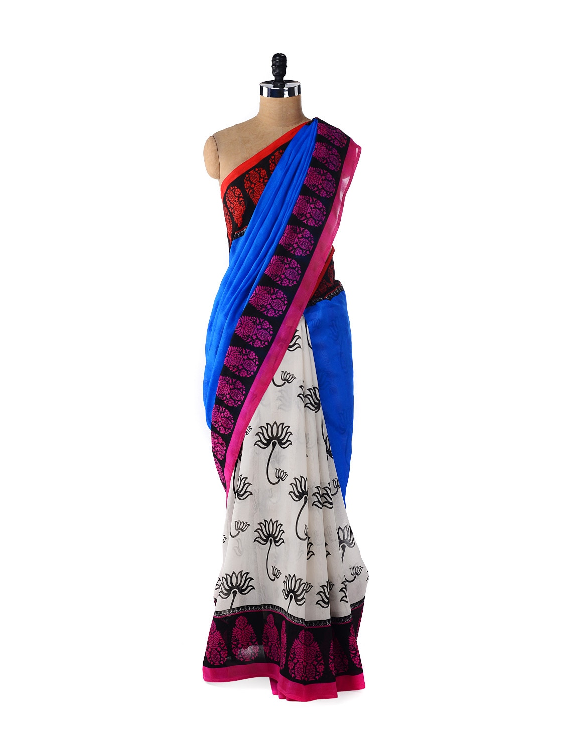 Quirky Fan Print Saree - ROOP KASHISH