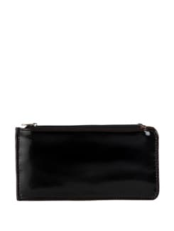 Glossy Dark Brown Wallet - YELLOE