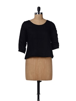 Black Pleated Top - W