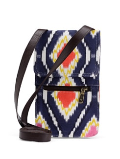 Blue & Pink Ikat Cross Body Bag - SUNNY ACCESSORY