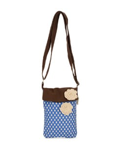 Printed Blue And Brown Sling Bag - Pick Pocket