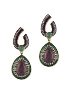 Unique Stone Studded Earrings - Jorie Bazaar