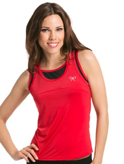 Red Black Dual Layer Tank - PrettySecrets