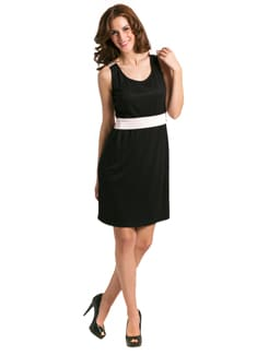 Black Pink Color Block Dress - PrettySecrets