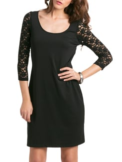Black Sexy Lace Dress - PrettySecrets