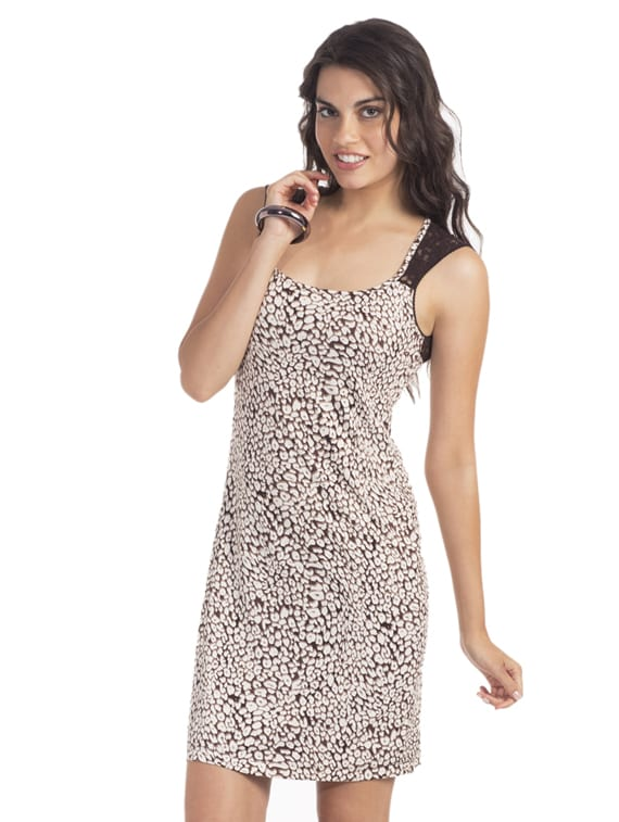 Animal Open-back Lace Dress - PrettySecrets