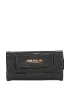 Classic Black Faux Leather Wallet - Lino Perros