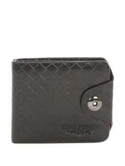Textured Black Multipurpose Wallet - Lino Perros