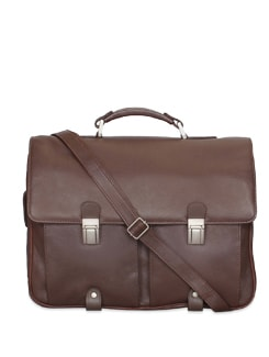 Brown Leather Briefcase - Brune