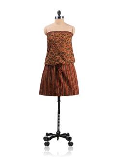 Off Shouldered Draw String Dress - Desiweaves