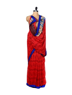 Lady Gaga and Lipstick Print Saree - ROOP KASHISH