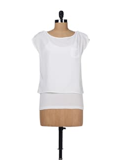 Ivory Crop Top With Spaghetti - Chemistry