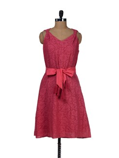 Pretty Pink Net Dress - LY2