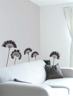 Black Floral Wall Sticker - Home Decor Line