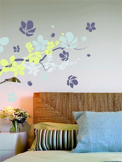 Flowers & Branches Wall Sticker - Home Decor Line