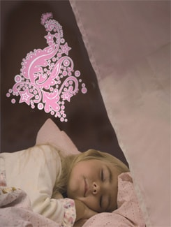 Pink Fairy Motif Wall Sticker - Home Decor Line