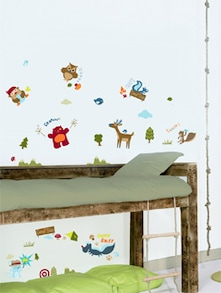 Camp side Wall Stickers
