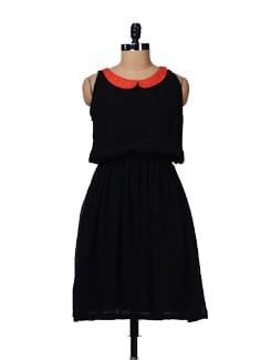 Stylish Desire- Peter Pan Collar Dress - Nineteen
