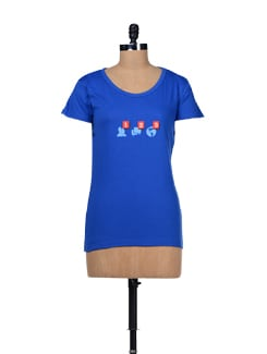 Facebook Print Blue T-shirt - TANTRA