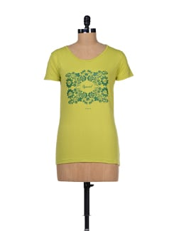 Floral Print Cotton T-shirt - TANTRA