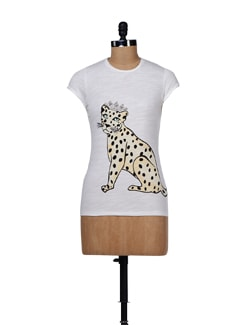 Ivory Leopard Top - Chemistry
