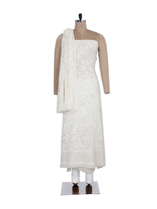 Rose & Mokaish Embroidered Suit Piece - Ada