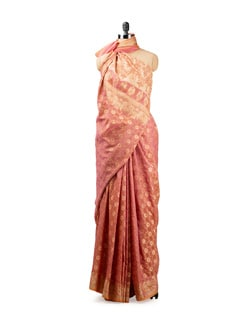 Pink Benarasi Crepe Saree - Seasons By Surekha