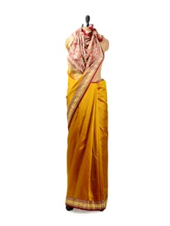 Golden Yellow Benarasi Silk Saree - Seasons By Surekha