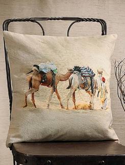 Desert Camel Print Cushion Cover - Veva's