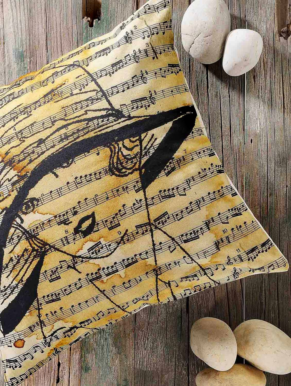 Singer And Song Lyrics Print Cushion Cover - Veva's