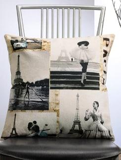 Paris City Print Cushion Cover - Veva's