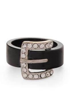 Black Stylish Belt Ring - THE PARI