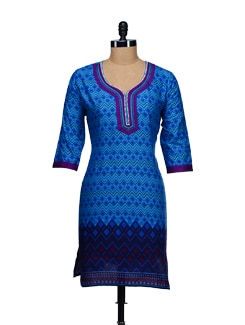 Geometric Prints- Cotton Kurta - WILD WOMAN