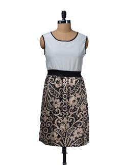 Smocked Printed Dress - HERMOSEAR