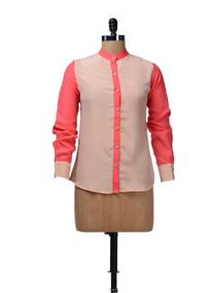 Color Block Crepe Shirt - HERMOSEAR
