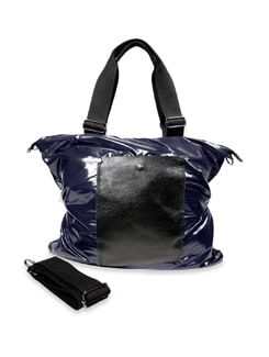 Blue Leather Handbag - Bags By Just Women