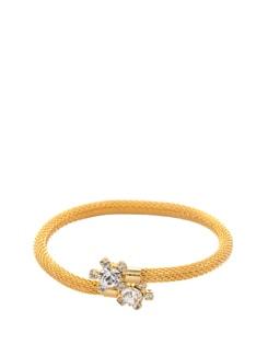 Gold Floral Crystal Bracelet - Mahi