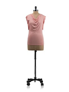 Pink Cowl Neck Top - Allen Solly