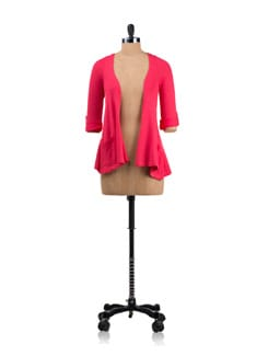 Pink Draped Cardigan - Allen Solly